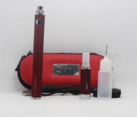 Wholesale case zippers resale online - EVOD Twist MT3 Kits evod zipper case kit with MT3 Atomizer mah mah mah evod twist battery MT3 atomizer usb charger LiquidDHL shipp