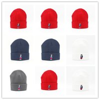 Wholesale Orange Braided Leather - New Design Hot winter Fashion men beanie women knitted hat casual sports cap keep warm ski gorro top quality classical polo skull caps