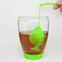 Wholesale Food Support - Silicon Tea Infuser Teabag Tea Strainer Tea Filter Produce With 100% Food Grade & High Quality Creative Fish Style,Support For Mixed Batch