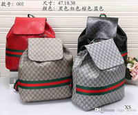 Wholesale Cheap Men Leather Backpack - Fashion GG Backpack Men Women Leather Bags Brand Designer G Famous Back Packs Bag Embroidered Backpacks Ladies Bags Cheap Sale