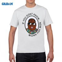 Wholesale Tee Shirt Music - Biggie Smalls T shirt Men Hip Hop Music Star Mens T Shirt if you dont know now you know Harajuku Camisetas B.I.G. Tee Shirt 3XL