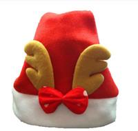 niedliche weihnachtshüte großhandel-2016 Neue Weihnachtsdekoration kappen Hochwertiger Weihnachtshut Weihnachtsmann-Hut Niedliche Kinder Weihnachten Cosplay Hüte
