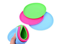 Маленький собачий щенок Cat Training Fetch Toy Cheap Frisbee Flying Disc Силикон Хорошее качество Mix Mix Min Order 20PCS