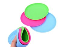 Small Dog Puppy Cat Training Fetch Toy Frisbee barato Flying Disc Silicone Boa qualidade Mix Color Min Order 20PCS