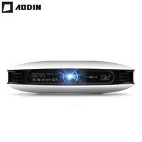 mini levou 3d projector de bolso venda por atacado-Venda por atacado- AODIN M18 mini projetor LED 4K 3D projetor DLP Pocket Android entrada HDMI 2G DDR3 Full HD 1080P portátil projetor de cinema em casa