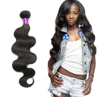Wholesale 6a unprocessed weave for sale - 4Pcs Brazilian Malaysian Body Wave Malaysian Virgin Hair Body Wave Bundles A Unprocessed Virgin Hair Cheap Brazilian Hair Human Weft