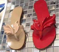 Wholesale Women Beach Shoes Design - 2016 Summer New Design Slipper Sandals Women Leaf Slides Wing Flats Women Flat Slippers Sea Beach Flip Flops Casual Shoes