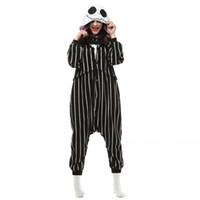 Wholesale Cosplay Anime The Nightmare Before Christmas Jack Skellington Skeleton Costume Onesie Party Christmas Pajamas Plus Size S XL Jumpsuit Free
