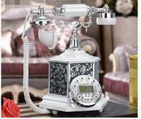 Wholesale Phones Landline - Retro carved card mobile wireless landline telephone home Beamio Fashion Phone Antique Telephone Vintage Wood Home Fitted Landline