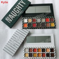 Wholesale Cosmetic Stocks - IN STOCK!!! Newest Kylie Jenner Cosmetics 14 Colors Eyeshadow Palettes The Naughty Palette & The Nice Palette Kyshadow Free Shipping