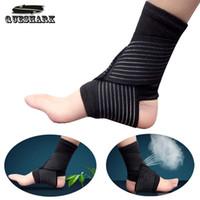 Wholesale Ankle Protection Football - Wholesale-Sports Ankle Support Football Basketball Taekwondo Badminton Sport Protection Bandage Elastic Ankle Sprain Brace Guard Protect