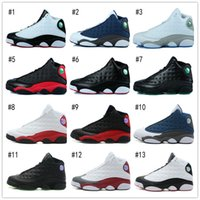 Wholesale Cheap Cow Split Leather - 2016 Cheap Sale Retro 13 Mens Basketball Shoes for Top quality Airs 13s Outdoor Training Sneakers US Size 7-12 Free Shipping