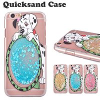 Wholesale Iphone Dog Hard Case - Carton Dog Quicksand Star Case For Iphone 6 Case Bling BlingCase Hard PC Ultra-thin Transparent Back Cover Case For Iphone 6S Plus SCA167