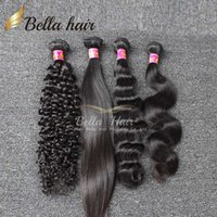 Wholesale Loose Deep Bundles - Brazilian Hair Weaves Human Hair Bundles Curly Human Hair Weave Straight Body Wave Loose Deep 3pcs Hair Extensions Bella Hair 7A