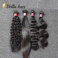 Barato Onda Do Corpo 3pcs-Brazilian Hair Weaves Hair Bundles Chips Curly Straight Body Wave Loose Deep 3pcs Extensões De Cabelo Bellahair Double Weft 7A