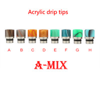 Wholesale Tips For E Cigs - Hot Sale Tophus Drip Tips E Cigs Glass Acrylic 510 Mouthpiece Resin Drip Tips For EGO RDA Kennedy Atomizers Wide Bore Drip Tips