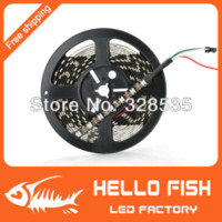 Wholesale Matrix Dc - HELLO FISH 4M Built-in WS2812B Black board LED strip,240 LED 240 pixel matrix LED strip,Not waterproof, Display DIY led strip