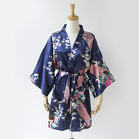 Navy blue Peacock Braut Roben billig Dressing Robe Satin Robe Kimono Brautjungfer Roben Brautjungfer Roben Nicht Baumwolle passenden Brautjungfer SR6