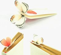 Wholesale Promotional Book - New Classical Paper Butterfly Bookmark Creative Stationery Books Markers Holder School Children's day Promotional Gift ( 500 PCS Lot )
