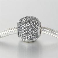 s925 sterling silber gewinde großhandel-Charms Thread Bulk S925 Sterling Silber passt für Pandora Stil Charme Armbänder versandkostenfrei aleCH619H9