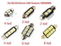 Wholesale 36 Smd Dome Led - 31 36 39 41mm panel led 5050 smd 2 3 4 6 8 led White Dome Festoon CANBUS Error Free