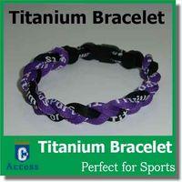 Wholesale Tornado Titanium Braided Bracelets - via DHL tornado Germanium & titanium 3 ropes tornado braided titanium bracelets 18- 22CM
