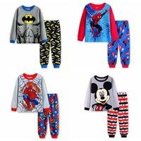 Wholesale Boys 5t Pajamas New - New 2017 Girls Boys Pyjamas Kids Cotton Casual Long Sleeve Pajama Boy Animal Pajamas Children Cartoon Sleepwear