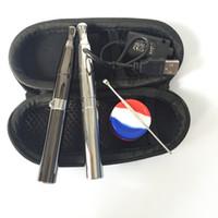 Wholesale wholesale electronic cigarette pro kits - Skillet Vaporizer Kit Puffco pro Dual Quartz Rod Ceramic Coils Wax Pen Dry Herb Vaporizer Electronic Cigarettes Starter Kit