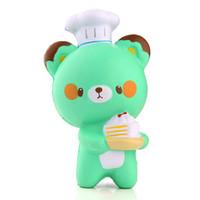 Wholesale Panda Bear Charms - New Bear 14CM Kawaii Jumbo Panda Pastry Chef Squishy Charm Bread Soft Slow Rising Kid Toy Gift Cartoon Cake Bun