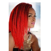 Wholesale Width 1cm - Wholesale-2016 Hot 1cm Width 60g 16 Strands Ombre Senegalese Twist Large 12inch Havana Mambo Twist Braid Hand Braided Synthetic Hair