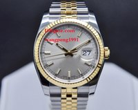 """Wholesale yellow sapphire bracelet - Luxury men High qualit Watch 36MM 116233 18K Yellow Gold Stainless Steel bracelet Sapphire glass Silver dial Automatic men""""s Watch Watches"""