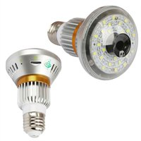Wholesale night vision light bulb - Wireless WiFi HD960P Bulb Camera with 5W Led Light and Night Vision Phone APP Security WIFI Camera