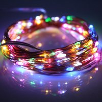 Atacado - Iluminação de férias de 9 cores Warm White Fairy Garland 10M 100LED Fio de cobre LED String Lights Christmas Outdoor Wedding Decoration