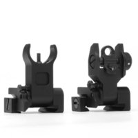 Wholesale Ar Lower - MTS4030--Aluminum Matte Black Finished AR-15 M16 Gun Low Profile Flip Up Front and Rear Iron Sight Combo Set