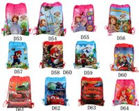 Wholesale Super Mario Backpacks For Kids - Cartoon Frozen Nonwoven Cloth Backpack Waterproof Despicable Me Spider-man School Bags Kids Super Mario backpack for Cartoon Accessories