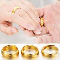 Wholesale Simple Ring Designs For Women - 2017 new Luxury simple wedding Charm Beautiful 18k gold rings For Women Simple Design Vintage Ring Statement Jewelry Wholesale Free Shipping