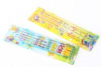 kalem anime toptan satış-10 Kutu / 100 Adet Karikatür Anime Pikachu Tarzı Ahşap kalem öğrenci kırtasiye topu 2B 17.5 cm Yeni Hediye