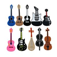 Wholesale Cheapest 4gb Usb Flash Drive - Musical Instrument Guitar Violin Shape PVC Cheapest Price USB Flash Drive 8GB Pendrive Promotional Gift Real 1GB 2GB 4GB 16GB Memory Stick
