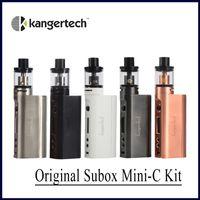 Wholesale Kanger Protank Starter Kit - Wholesale-New Kanger Subox Mini-C Starter Kit 50W Subox mini C Box Mod Vape with 3ml Protank 5 Atomizer 0.5ohm SSOCC Kangertech Vaporizer