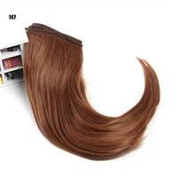 Wholesale Doll Wig 11 - 6PCS LOT 25*100CM Black Brown Blond Synthetic Doll Hair Curly Wig 1 3 BJD Accessories