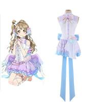 Wholesale Kotori Anime - Wholesale-Hot Japanese Anime Love Live Cosplay Costume Minami Kotori White Day Dress