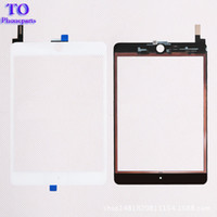 Wholesale ipad mini digitizer replacement black resale online - 50PCS New Touch Screen Glass Panel with Digitizer Replacement for iPad Mini Black and White free DHL