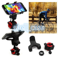 Barato Montagem De Telefone De Bicicleta Ajustável-Adjustable Bike Phone Holder Handlebar 360 Grau Rotatable Motocicleta Bicicleta MTB Bracket clip Mount Holder Para flash móvel luz GPS