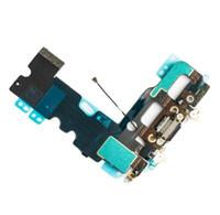 mikrofon reparieren großhandel-Ladeanschluss Dock Ladegerät Anschluss Flex Kabel für iPhone 7 7G 4.7 '' Audio Mikrofon Flex Reparatur Teile