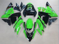 Wholesale Motorcycle Motor Kit - Motorcycle New motor Fairings Kits For Kawasaki Ninja ZX-10R ZX10R 04 05 2004 2005 ABS Plastics Fairing set Bodywork Cowling black green