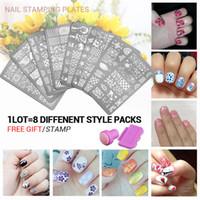 Wholesale Print Nail Tips - 10pcs New Arrival set 3 Nail Art Image Printing Beauty Designs Women Tips Nails Stamping Plates Nail Art Polish Templates