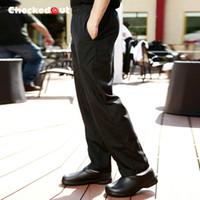 Wholesale Men S Work Pants - Brands Checkedout Chef Work Uniform Chef Pants Kitchen Staff Pants Hotel Restaurant Waiter Men's Work Pants