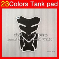 Wholesale Kawasaki Ninja Gas Tank - 3D Carbon Fiber Gas Tank Pad Protector For KAWASAKI NINJA Z750 04 05 06 Z-750 Z-750S 04-06 Z750S 2004 2005 2006 3D Tank Cap Sticker 23Colors