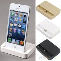 Gros-vente chaude de bureau magnétique Charging Dock Data Station base Sync Support à Chargeur Mont Cradle For iPhone 5 5C 5S gros