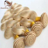Wholesale Cheap Brazilian Remy Blonde Hair - 2016 New Arravil Blonde Body Wave Indian Virgin Hair Bundels Best Qunlity Human Hair 613 Cheap Body Wave Human Hair Bundels